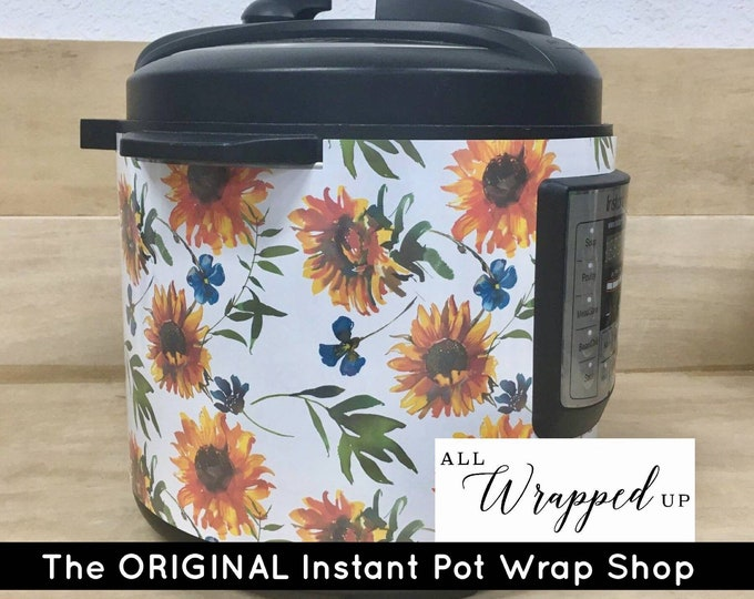 Boho Sunflowers, Pressure Cooker Wrap, Instant Pot OR Mealthy Multicooker, magnetic closure, decal cover, removable
