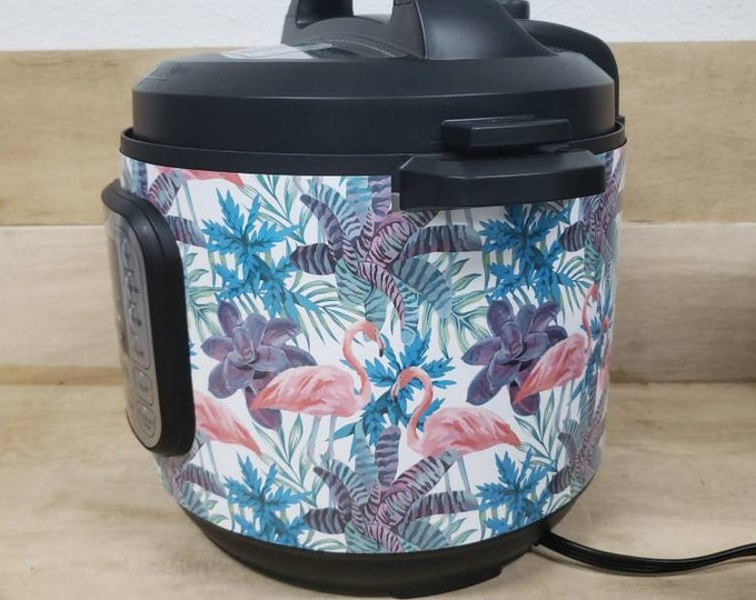 Flamingo Vibes, Instant Pot Wrap Removable not a sticker can be wiped off. Mealthy Multicooker Wrap All Wrapped Up IP magnetic closure