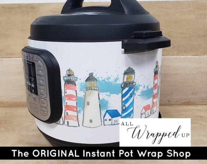 Lighthouse, Instant Pot Wrap with magnetic application, Mealthy wrap cover decal removable All Wrapped Up IP