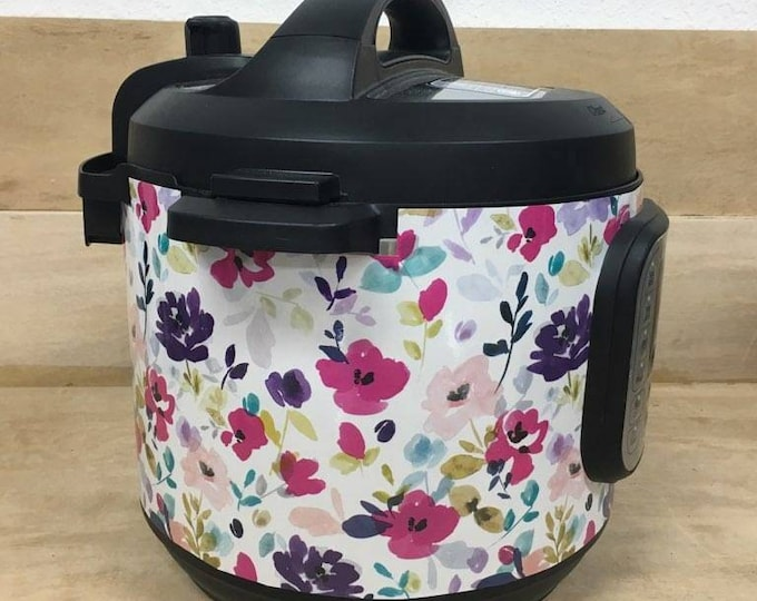 Bright Spring Flowers, Instant Pot Wrap OR Mealthy Multicooker, magnetic closure decal cover, removable Instant pot skin all Wrapped up IP