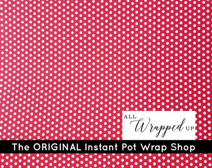 Red and White Small Polka Dots, Pressure Cooker Wrap, Instant Pot Wrap Cover or Mealthy