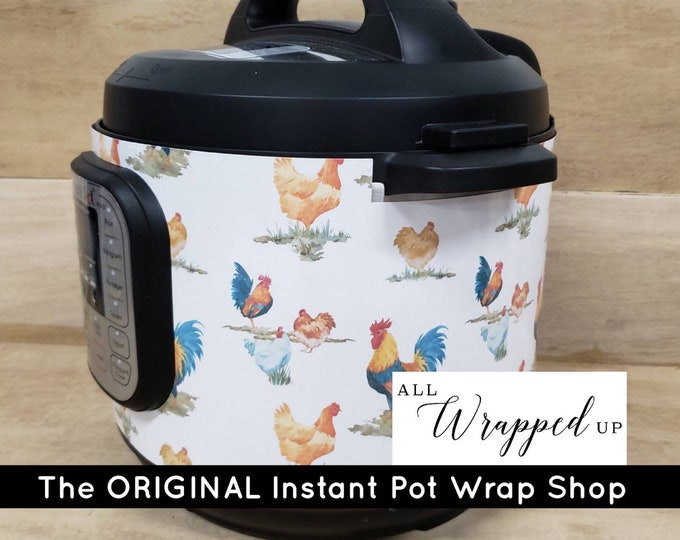 Chicken Yard, Pressure Cooker Wrap, Instant Pot OR Mealthy Multicooker, magnetic closure, decal cover, removable