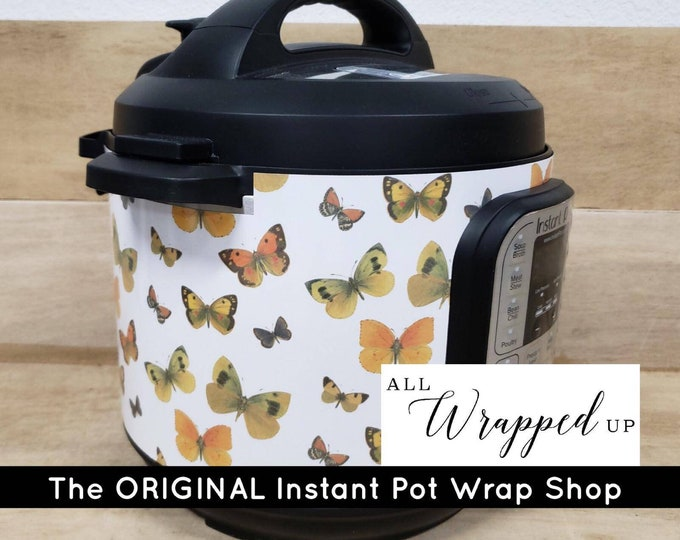Vintage Butterflies, Pressure Cooker Wrap, Instant Pot OR Mealthy Multicooker, magnetic closure, decal cover, removable