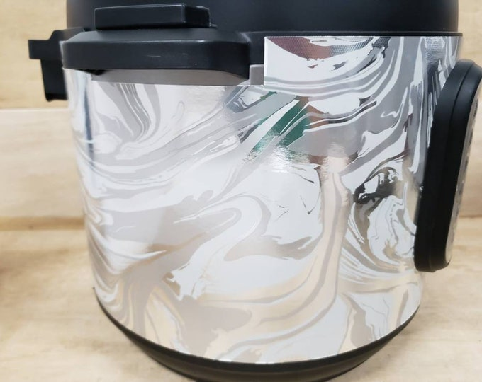 Marble Inspired, Instant Pot Wrap,  Removable AND wipe able, Mealthy Multicooker Wrap