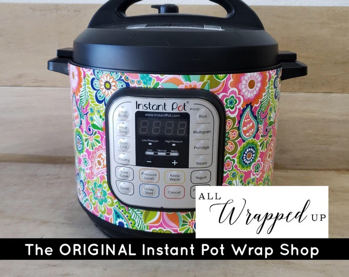 Flower Power, Instant Pot Wrap,  Removable AND wipe able, Mealthy Multicooker Wrap