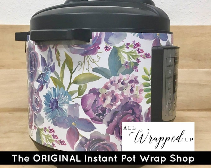 Pretty Purple Instant Pot Wrap with magnetic closure, decal cover, removable, All Wrapped Up IP, mother's day gift, birthday gift kitchen