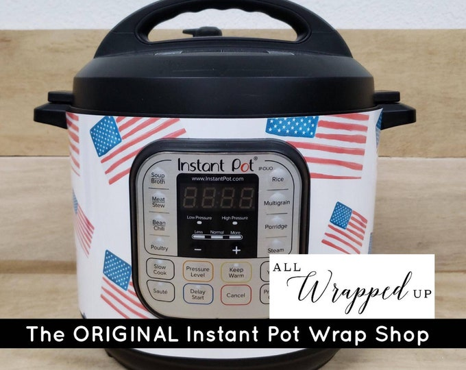 American Flag, Instant Pot Wrap,  Removable AND wipe able, Mealthy Multicooker Wrap