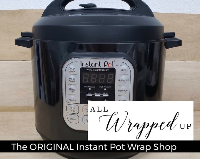 Pure Black, Instant Pot Wrap,  Removable AND wipe able, Mealthy Multicooker Wrap