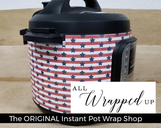 Stars and Stripes 4th of July, Pressure Cooker Wrap, Instant Pot Wrap Cover or Mealthy