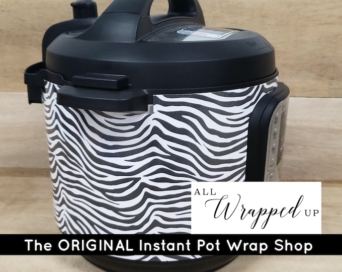 Zebra, Pressure Cooker Wrap with magnetic application, Instant Pot Wrap Cover or Mealthy wrap cover decal removable