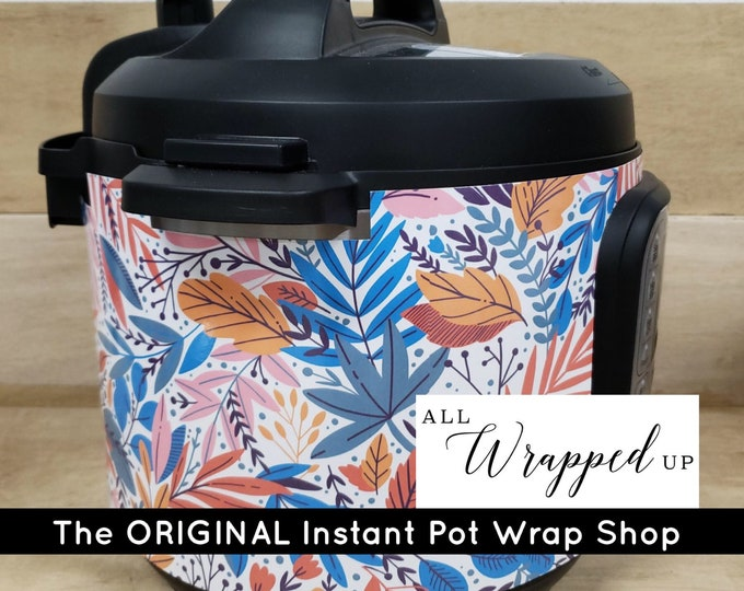 Tropical, Instant Pot Wrap,  Removable AND wipe able, Mealthy Multicooker Wrap