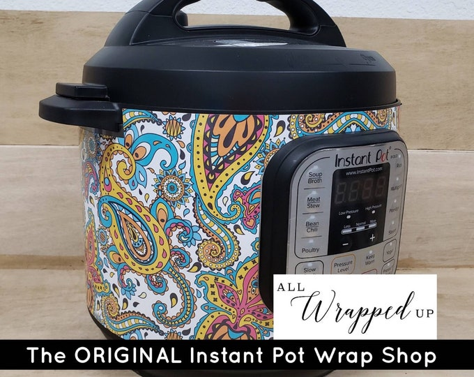 Perfect Paisley, Instant Pot Wrap,  Removable AND wipe able, Mealthy Multicooker Wrap