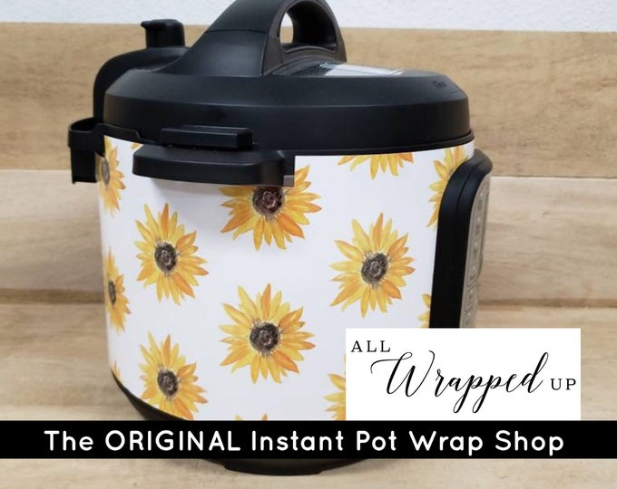 Sunflowers, Instant Pot Wrap,  Removable AND wipe able, Mealthy Multicooker Wrap