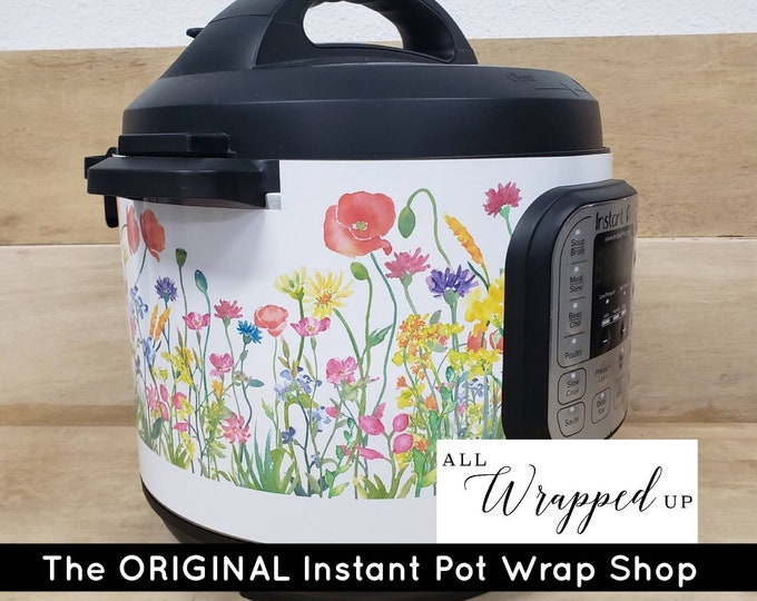 Wildflowers, Pressure Cooker Wrap, Instant Pot OR Mealthy Multicooker, magnetic closure, decal cover, removable