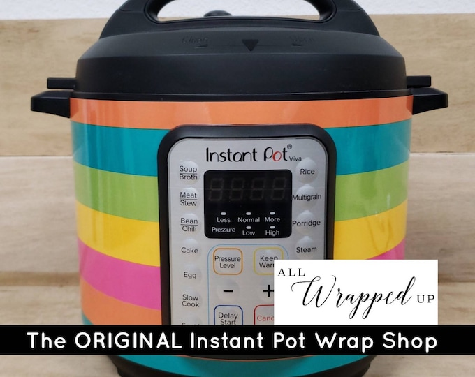 Summer Stripes, Instant Pot Wrap,  Removable AND wipe able, Mealthy Multicooker Wrap