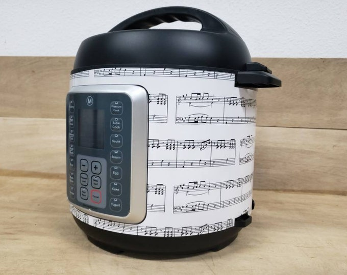 Music Notes, Instant Pot Wrap,  Removable AND wipe able, Mealthy Multicooker Wrap