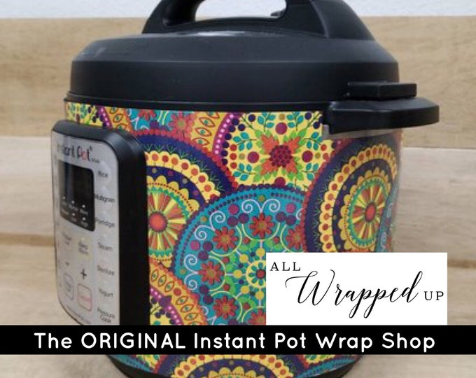 Boho Circles, Instant Pot Wrap,  Removable AND wipe able, Mealthy Multicooker Wrap