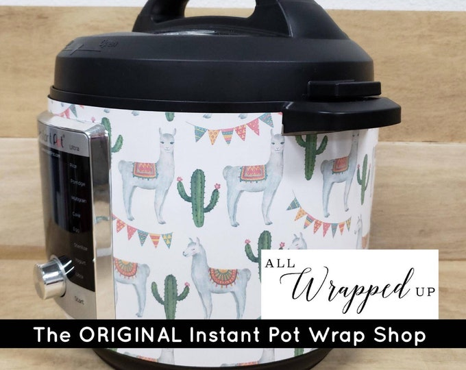 Llamas, Instant Pot Wrap,  Removable AND wipe able, Mealthy Multicooker Wrap