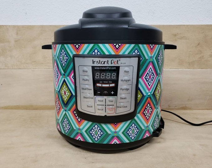 Boho Aztec, Instant Pot Wrap Cover or Mealthy wrap cover decal magnetic closure, removable