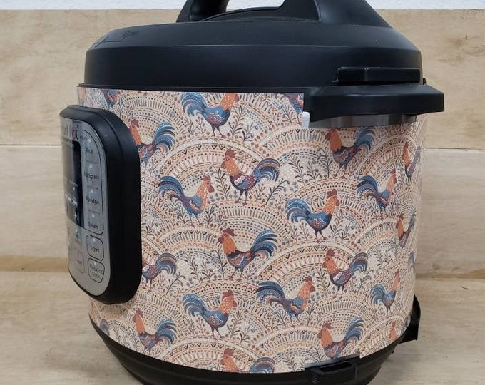 Boho Roosters, Pressure Cooker Wrap, Instant Pot OR Mealthy Multicooker, magnetic closure, decal cover, removable