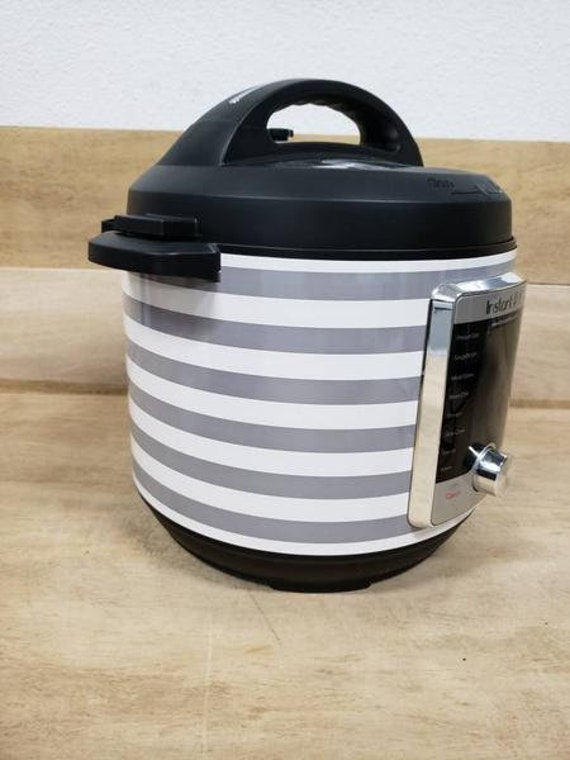 Gray and White Stripes Wrap for Instant Pot® brand pressure cooker All Wrapped Up
