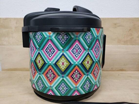 Boho Aztec, Instant Pot Wrap cover decal magnetic closure, removable