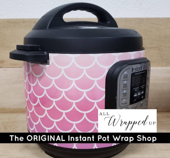 Pink Ombre Mermaid, Pressure Cooker Wrap, Instant Pot Wrap Cover magnetic closure, removable AND wipe able