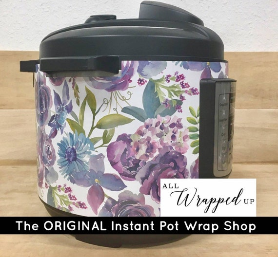 Pretty Purple Instant Pot Wrap with magnetic closure, decal cover, removable, All Wrapped Up IP