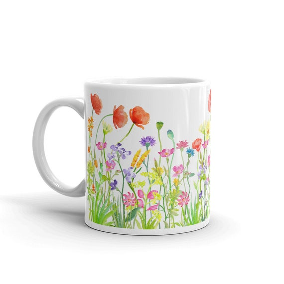 Wildflowers Coffee Mug 11 ounces All Wrapped Up IP
