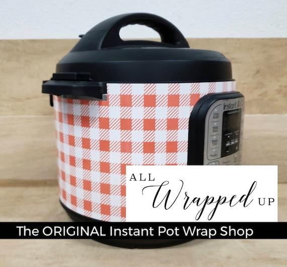 Orange Buffalo Plaid, Instant Pot Wrap,  Removable