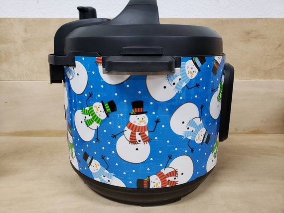 Christmas Wrap for Instant Pot® brand pressure cooker, Happy Snowman