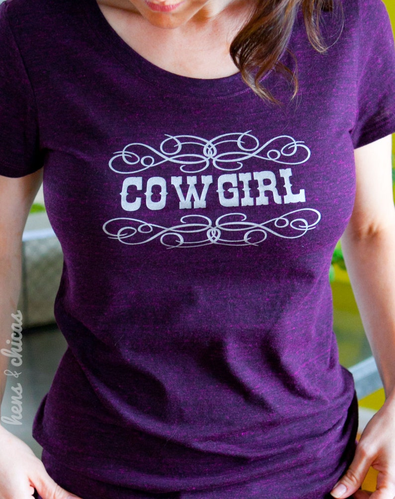 Cowgirl womens tshirt cowgirl gift gift for women western image 0