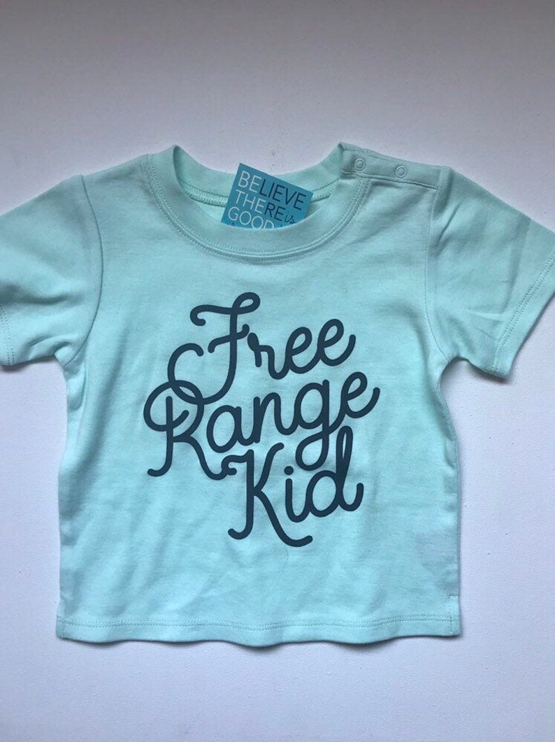 Free Range Kid Tshirt for Free Range Children and Toddlers image 0