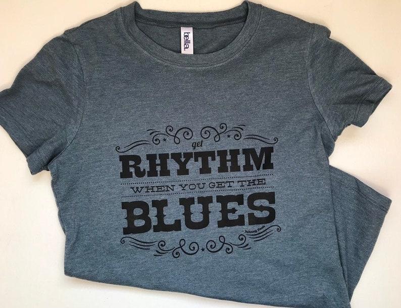 Get Rhythm When You Get the Blues Johnny Cash womens tshirt image 0