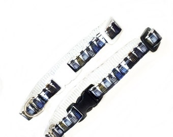 DOCTOR WHO DALEKS inspired 3/8 inch (10 mm) wide cat collar