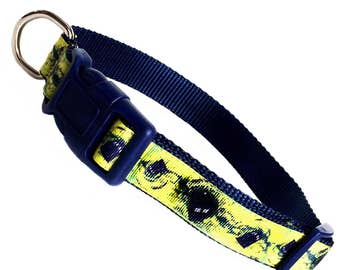 DOCTOR WHO inspired TARDIS in the vortex click quick release dog collar