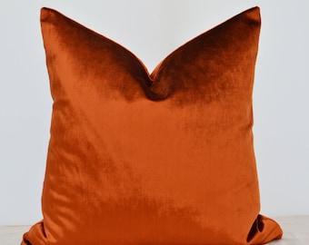 Copper Velvet  Pillow Cover,Copper Pillow Cover