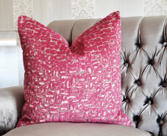 Pink Velvet Pillow Cover Pink Pebble Velvet Pillow Cover Etsy