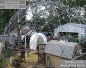 28 ft Geodesic Dome Outdoor Aviary, Flight Cage, Animal Pen