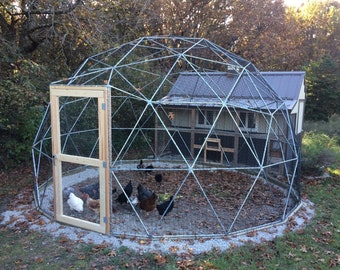 20 ft Geodesic Dome Outdoor Aviary Flight Cage Animal Pen | Etsy