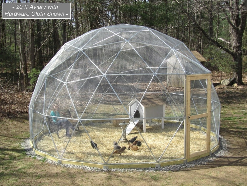 20 ft Geodesic Dome Outdoor Aviary Flight Cage Animal Pen image 0