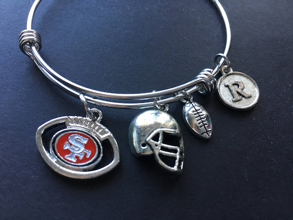 SF 49ers Football Bracelet