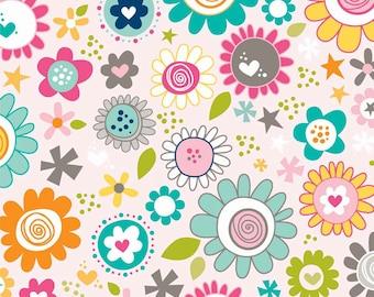 Riley Blake Designs - Snapshots Main Pink