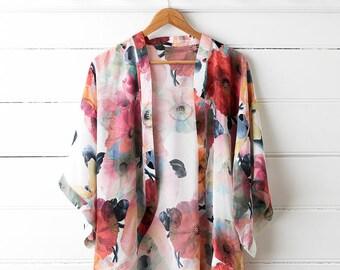Poppy Silk Kimono