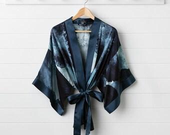 Midnight Ink Kimono Jacket
