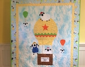 Lewe the Ewe Challenge, Baby Quilt, Sheep Art Quilt, Baby Blanket, Sheep Quilt, Quiltsy Handmade, 43x 51 Inches