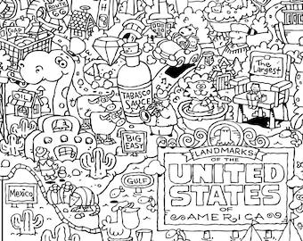 Us Carte Coloriages Usa Carte Page A Colorier Coloriage Page