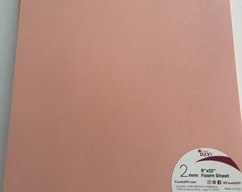 10 Sheets of Foam 9x12 - Peach/Flesh- Ideal for foam crafts, fofuchas and more