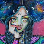 Anya Galactic Goddess - Signed Art Print