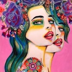 Miranda Floral Goddess - Signed Art Print